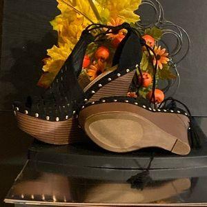 """New JUSTFAB """"Lucien"""" platform heels."""